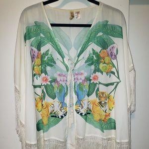 White H&M kimono